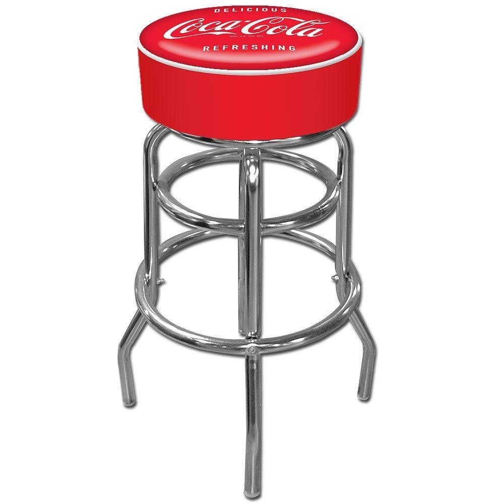 Banco Taburete Barra Cocina Diseño Coca Cola Con Reposapies ...