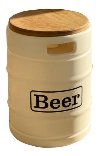 banco tambor barril de chopp puff