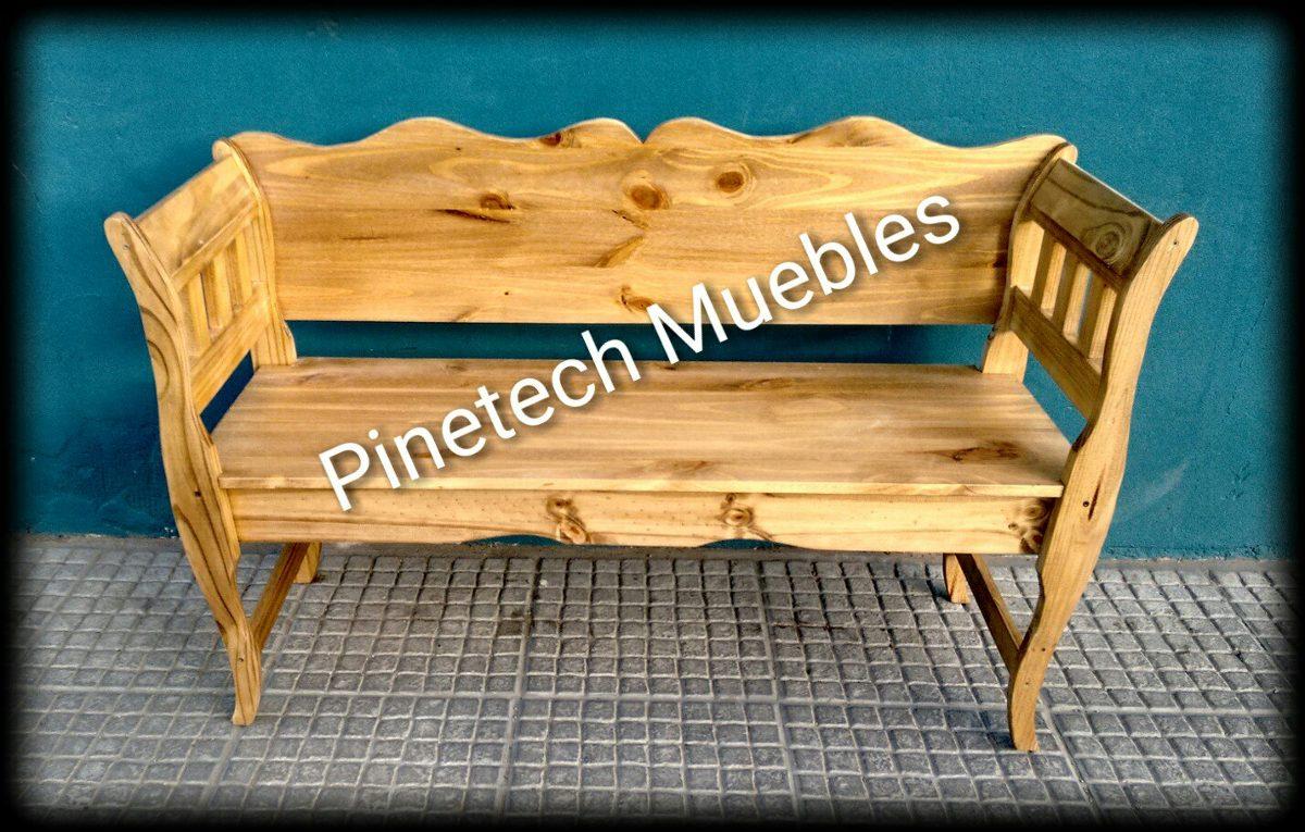 Banco Vintage Lustrado Pinetech Muebles 2 400 00 En Mercado Libre # Muebles Podesta
