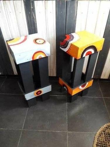bancos altos pintados variedad de diseños