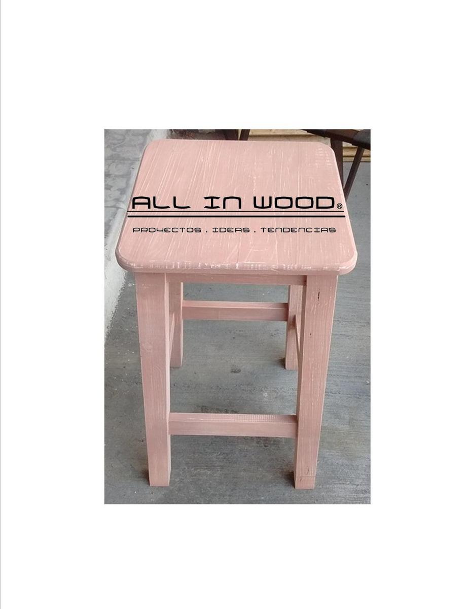 Bancos de madera acabado vintage en mercado libre for Bancos de madera ikea
