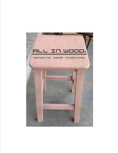 bancos de madera acabado vintage!!