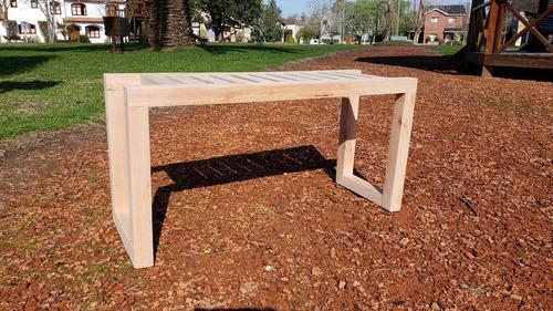 bancos de madera multiuso -jardín-pie de cama-mesa auxiliar