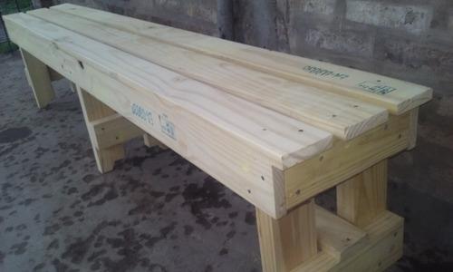 bancos de madera reutilizada de 2.00m