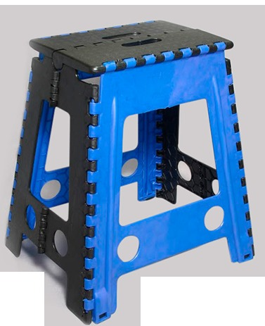 Bancos de plastico plegable multicolor paquete de 6 for Bancos de jardin de plastico