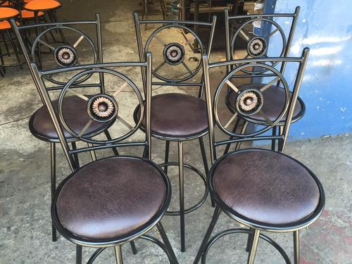 bancos giratorios para bar restaurante cafeterias heladerias