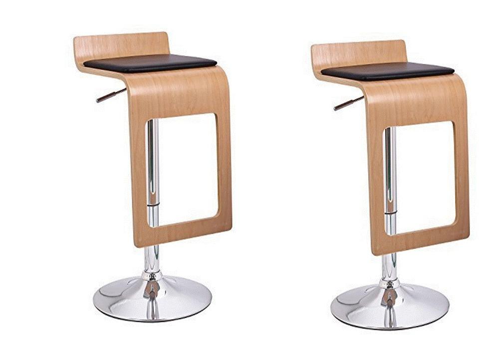 Bancos para barra set 2 piezas banco hidrualico bar cocina - Banco de madera para cocina ...