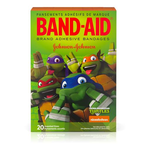band-aid® marca vendas adhesivas con teenage mutant ninja