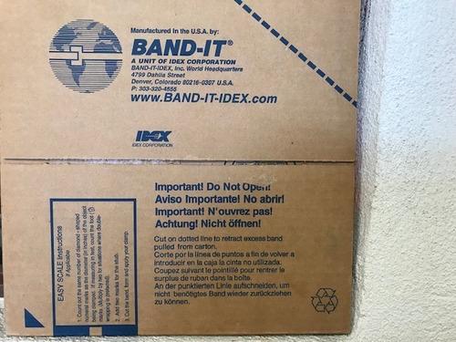 band-it c40599 banda de acero inox. sin rev. de 5/8  x 100'