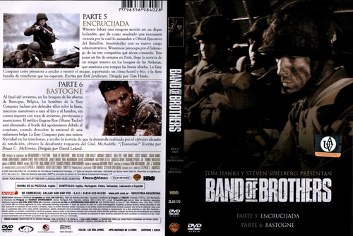 band of brothers, mini-serie 5 dvd's