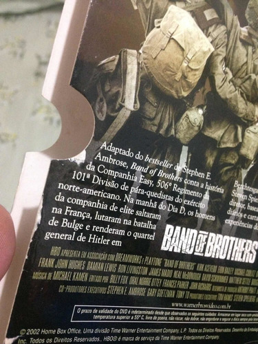 band of brothers série completa dvd warner lacrados r$129,98