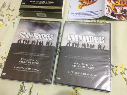 band of brothers série completa dvd warner lacrados r$129,99
