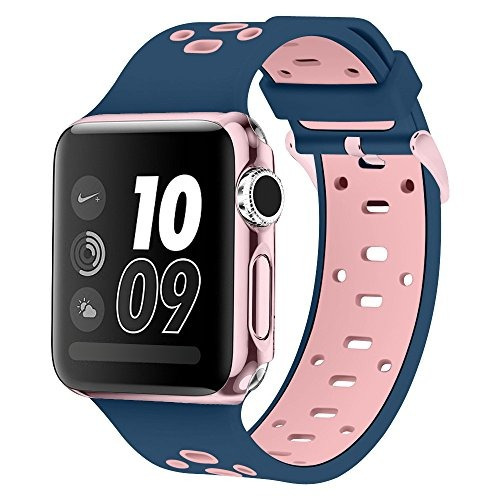 band para apple watch 38mm, alritz silicona sport correas pu