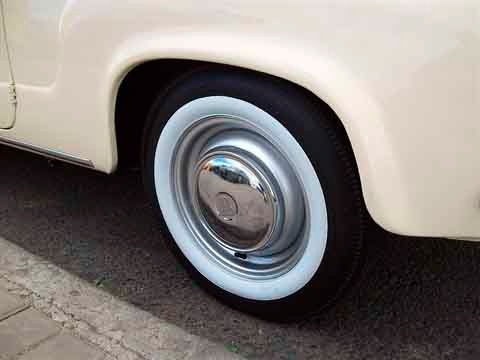 banda blanca bandalin rueda rodado 13 fino clasico