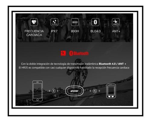 banda cardiaca igpsport bluetooth y ant+ compatible con todo