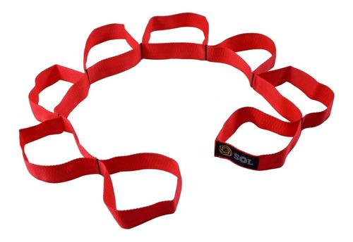 banda cinta de elongacion con varias posiciones sol fitness