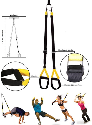 banda de entrenamiento suspension tipo trx kit profesional