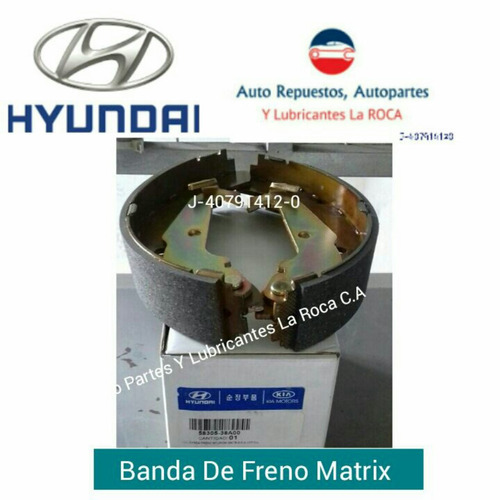 banda de freno original hyundai matrix
