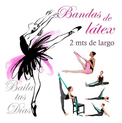 banda de latex 2 mts tiraband elongación bailarinas