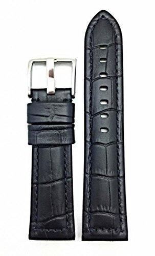 banda de reloj de cuero genuino negra estilo 26ra panerai |