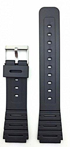 banda de reloj de goma material de pvc negro de 18 mm correa