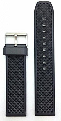 banda de reloj de goma negra de 22 mm  material de pvc