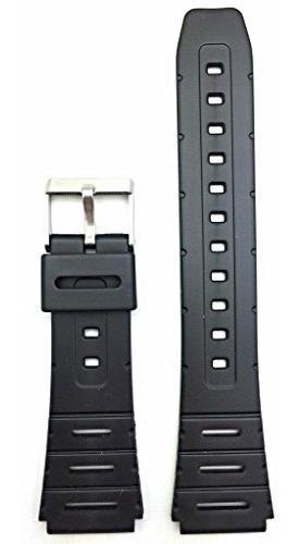banda de reloj de goma negra de pvc de 20 mm correa de muñec
