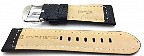 banda de reloj panerai style de 24 mm de newlife | correa de