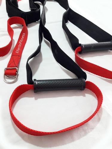 banda de suspension tipo trx, ejercicios con propio peso