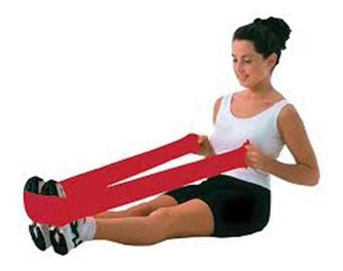 banda elástica azúl rehabilitación fisioterapia ejercicios