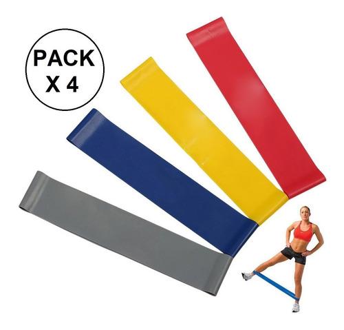banda elástica circular tiraband crossfit gym x 4 unidades