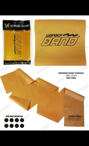 banda elástica dorada de resistencia para ejercicios teraban