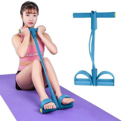 banda elástica ejercicio abdominal piernas brazos gimnasia
