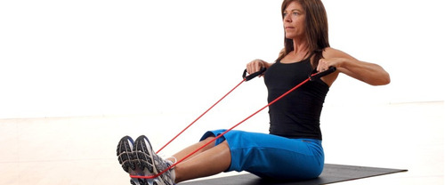 banda elastica tubular ejercicio gimnasio hogar mancuernas