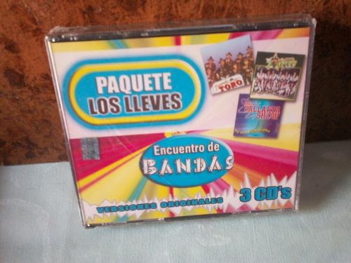 banda maguey, banda toro y banda vallarta show. 3cd.