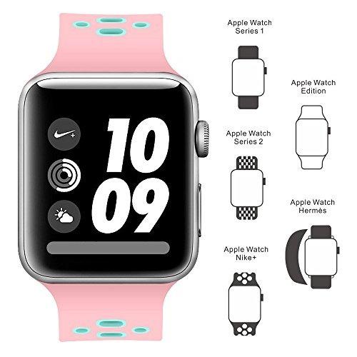 banda para apple watch 42mm, pulsera de silicona de repuesto