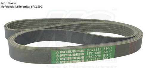 banda poly-v ford contour v6 2.5 1995 96 97 98 99 2000 xkp