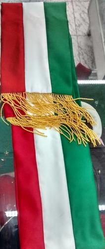 banda presidencial tricolor mexico 1.60 sin escudo