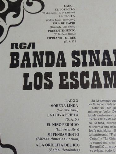 banda sinaloense los escamilla lp el botecito 1969