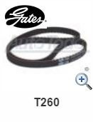 banda t260 distribucion o tiempo gates