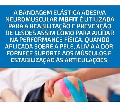 bandagem atadura elastica flexivel com 5 metros fita kinesio