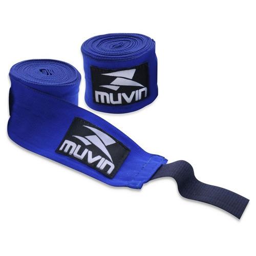 bandagem elastica 300cm x 5cm azul muvin