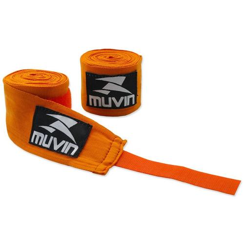 bandagem elastica 300cm x 5cm laranja muvin