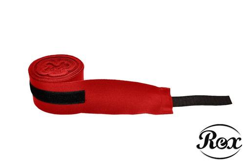 bandagem elástica 5 metros - rex fight - vermelha