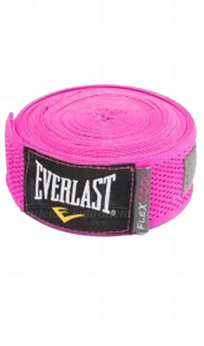 Bandagem Elástica Everlast Flexcool Rosa 5 5bb545cc492df