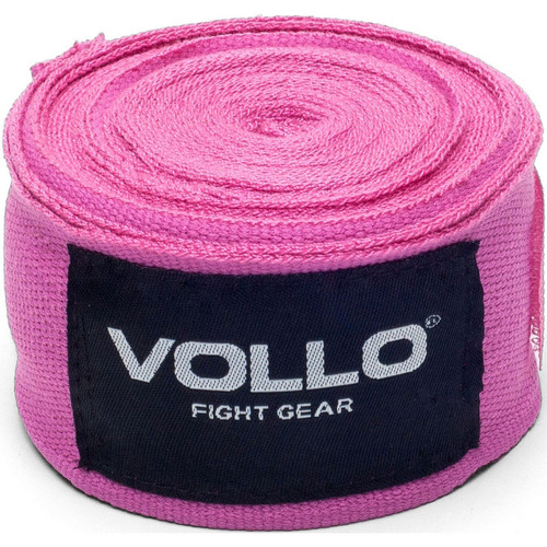 bandagem elástica rosa 3 metros artes marciais vollo vfg115
