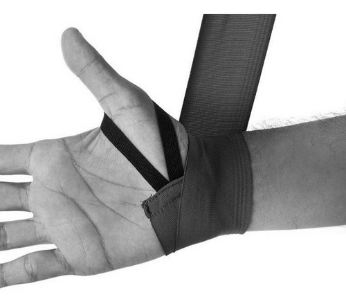 bandagem elasticá spank - 3 metros - preta