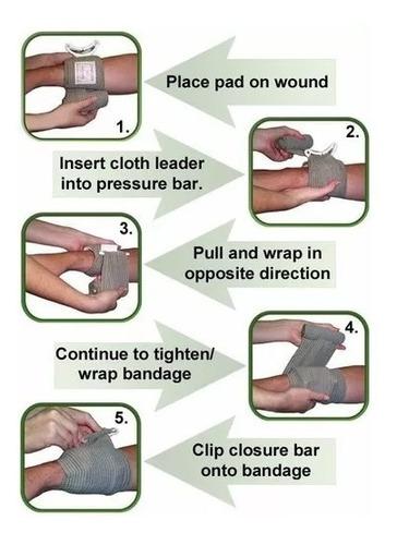 bandagem israelense com barra de pressão 4 pol (10cm) ifak