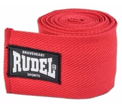 bandagem rudel elástica 50mm 3metros vermelha