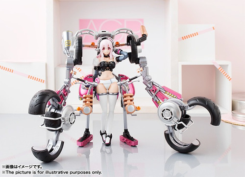 bandai super sonico with super bike robo original